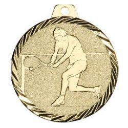 Médaille Tennis Métal Doré - 50MM