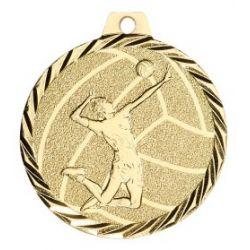 Médaille Volley Métal Doré - 50MM