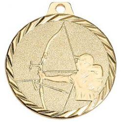 Médaille Tir à l'arc Métal Doré - 50MM