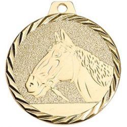 Médaille Cheval Métal Doré - 50MM