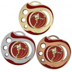 Médaille Foot Doré, Argent ou Bronze - 50MM