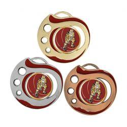 Médaille Hockey Doré, Argent ou Bronze - 50MM
