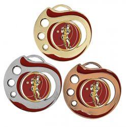 Médaille Tennis Doré, Argent ou Bronze - 50MM