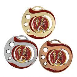 Médaille Triathlon Doré, Argent ou Bronze - 50MM