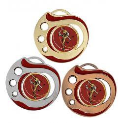 Médaille Twirling Doré, Argent ou Bronze - 50MM