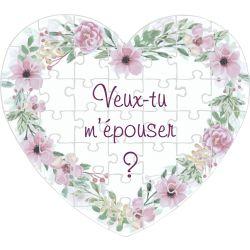 Puzzle Coeur Demande Mariage