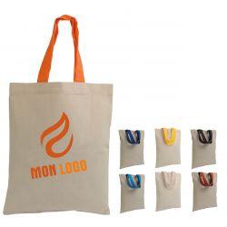 Mini sac coton Anses courtes colorées - à personnaliser