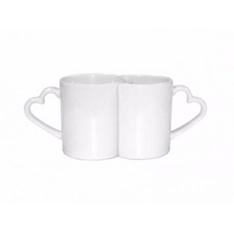 Duo Mug Coeur en céramique PERSONNALISABLE