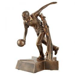 Trophée Bowling - Résine Dorée