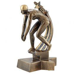 Trophée Nageuse - Résine Dorée