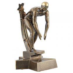Trophée Nageur - Résine Dorée
