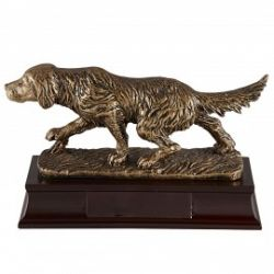Trophée Chien doré personnalisé
