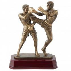 Trophée Boxeurs Doré personnalisé