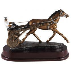 Trophée Course Hippique - Résine aspect bronze