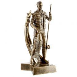 Trophée PECHEUR dorée 26 cm
