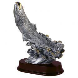 Trophée Truite 26 cm - Résine Argentée