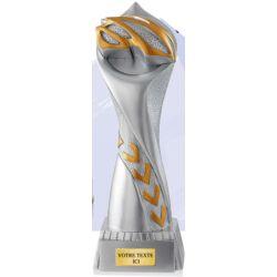 Trophée CASQUE VELO - Résine Argentée