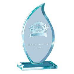 Trophée Full Verre Flamme personnalisable