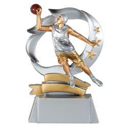 Trophée Basket masculin - Résine Argentée