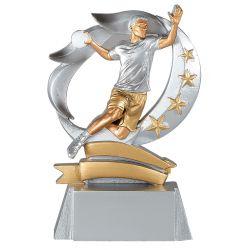 Trophée Handball - Résine Argentée