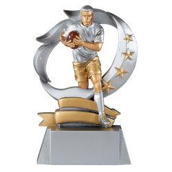 Trophée Rugby - Résine Argentée