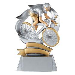 Trophée Cyclisme - Résine Argentée