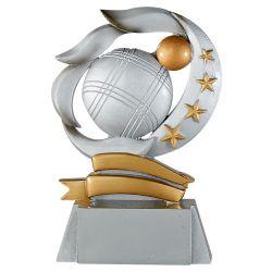 Trophée Boule de - Résine Argentée