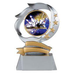 Trophée personnalisable - Résine Argentée