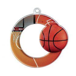Médaille Basket Acrylique - 50MM