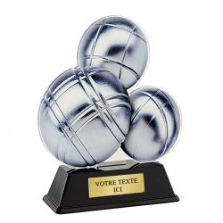 Trophée Pétanque - Acrylique couleur