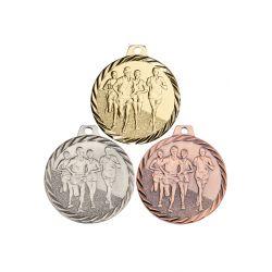 Médaille Course Métal doré - 50MM