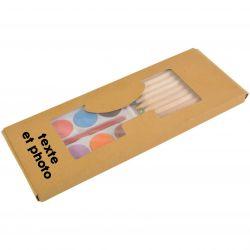 Coffret crayons et aquarelles personnalisé