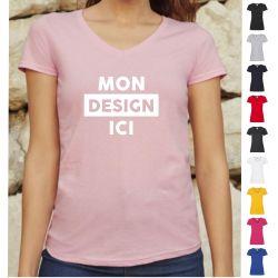 T-shirt Femme Col V personnalisé
