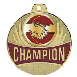 Médaille Champion AMITIE Doré, Argent ou Bronze - 50MM
